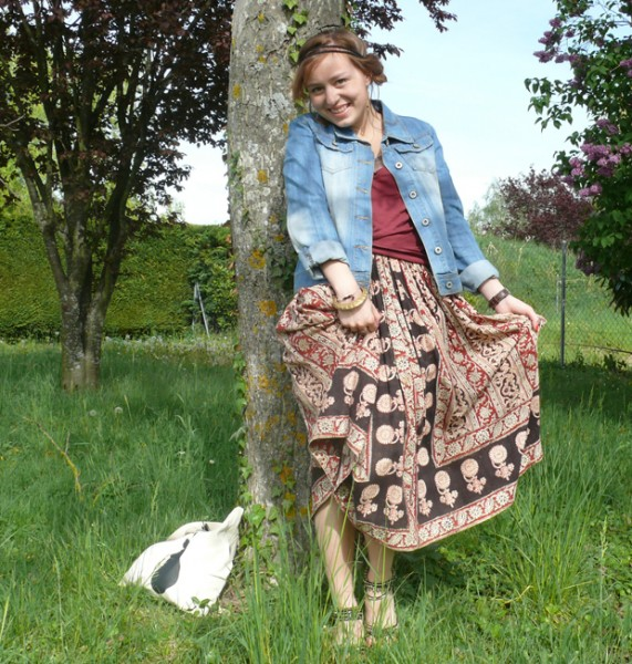 Jupe longue tenue boheme blog mode blog mode lifestyle z ro d chets cui - Adresse emmaus bordeaux ...