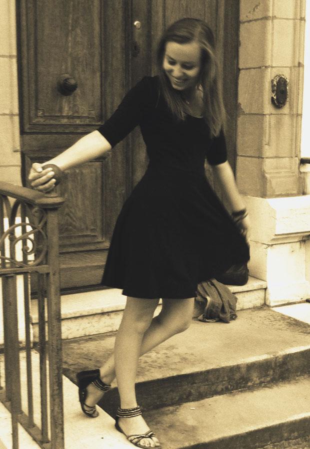 blog mode robe noire veste jean photo vintage retro look. Black Bedroom Furniture Sets. Home Design Ideas