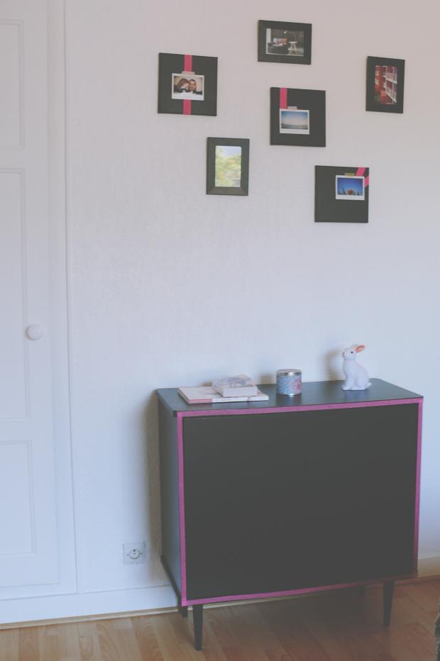 diy deco scrapbook mural deco noire rose fluo neon quotidien de jeune maman colo et gourmande. Black Bedroom Furniture Sets. Home Design Ideas