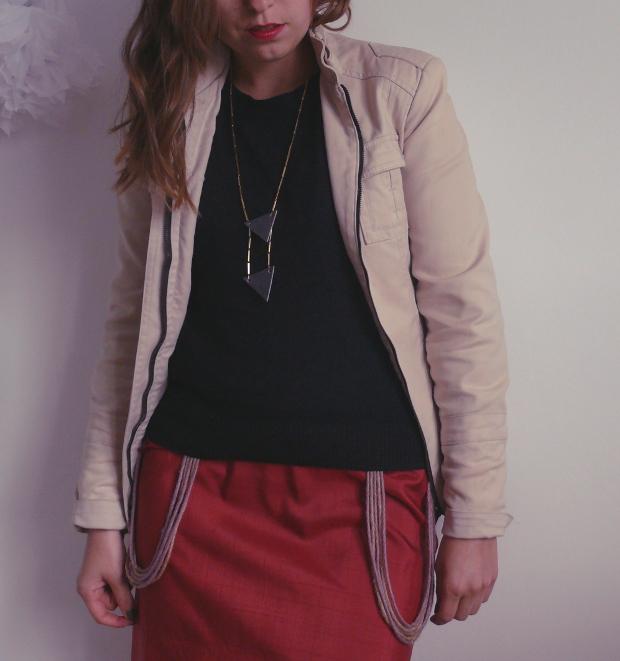 Veste zara beige robe elysim collier triangle autreshop for Zara haute savoie