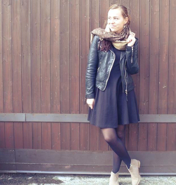 perfecto cuir mode blog mode vintage bottines robe noire quotidien de jeune maman colo et. Black Bedroom Furniture Sets. Home Design Ideas