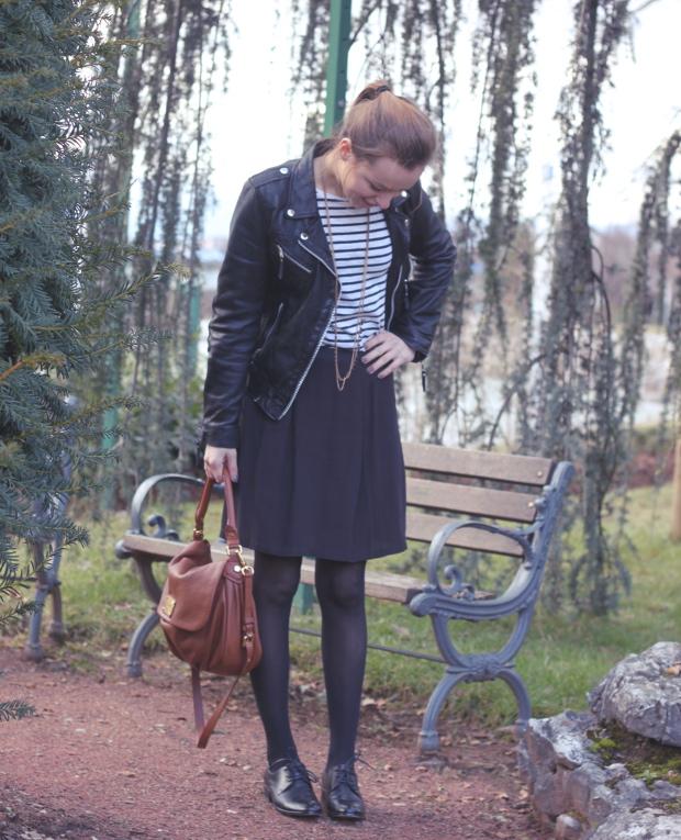 Style Preppy Mariniere Derbies Jupe American Vintage Blogmode Quotidien De Jeune Maman Colo Et