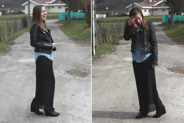 robe la mode que porter avec robe longue noire. Black Bedroom Furniture Sets. Home Design Ideas