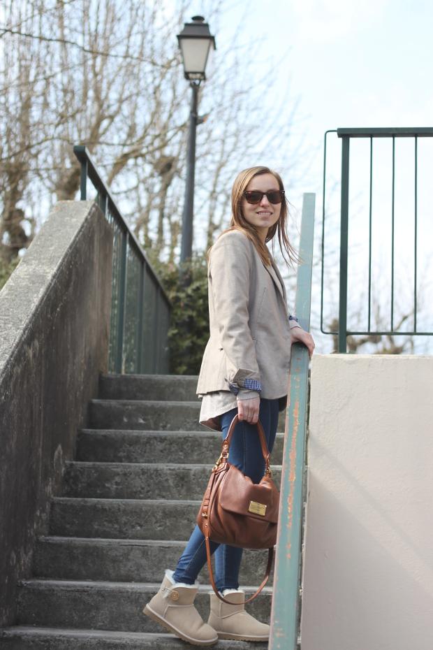 Look ugg mini baley button blogmode fashion blazer zara for Zara haute savoie