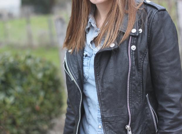 Perfecto cuir zara chemise en kjean blogmode quotidien de for Zara haute savoie
