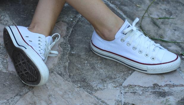 converse blanche a la mode
