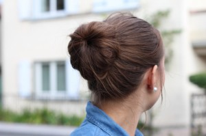 Buns cheveux mi long